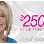 $250 Gift Certificate - Special Offer v.1A